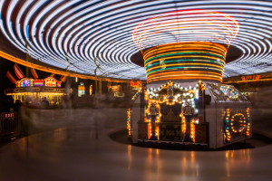 Blur shows the motion of the Merry Go Round