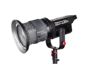 Aputure Fresnel Mount on an Aputure LS C120d Lamp