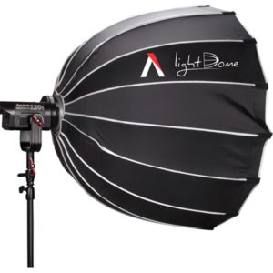 Aputure Light Dome mounted to an Aputure LS C120t Lamp