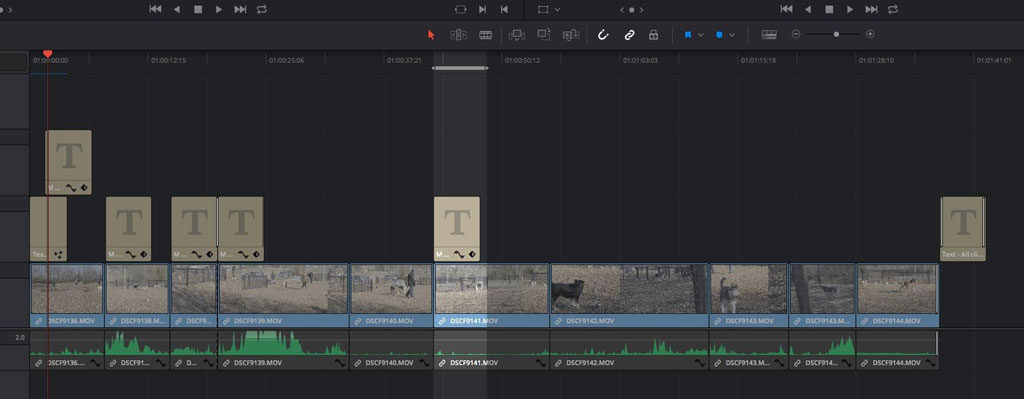 Making Better Videos: Screenshot of Multi-Track Timelines in Resolve Studio 15