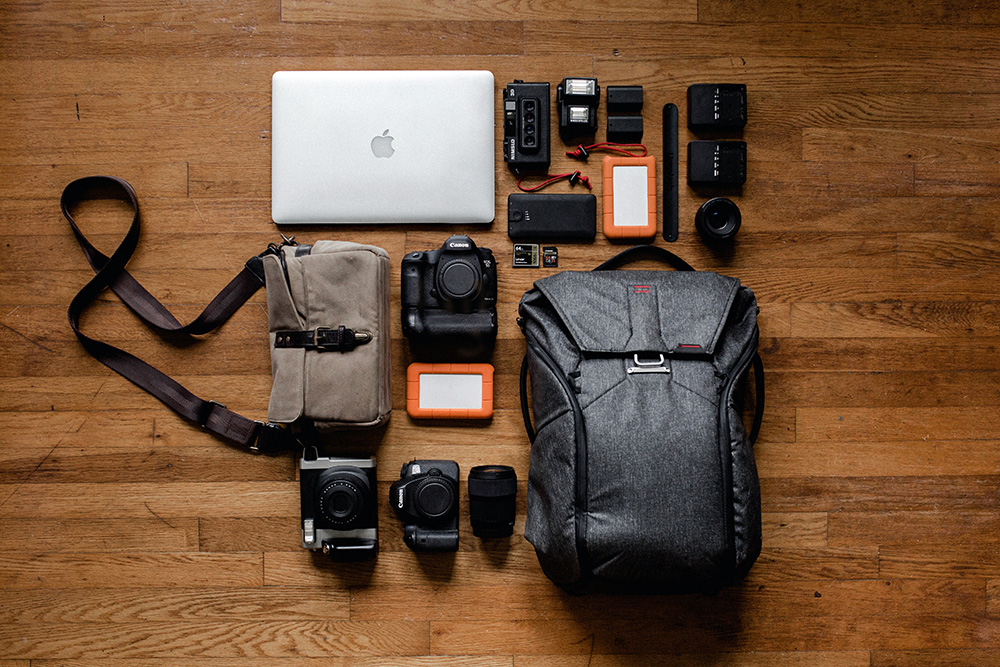 Camera Bag and Gear