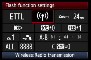Canon In Camera TTL Flash, courtesy of Canon Europe