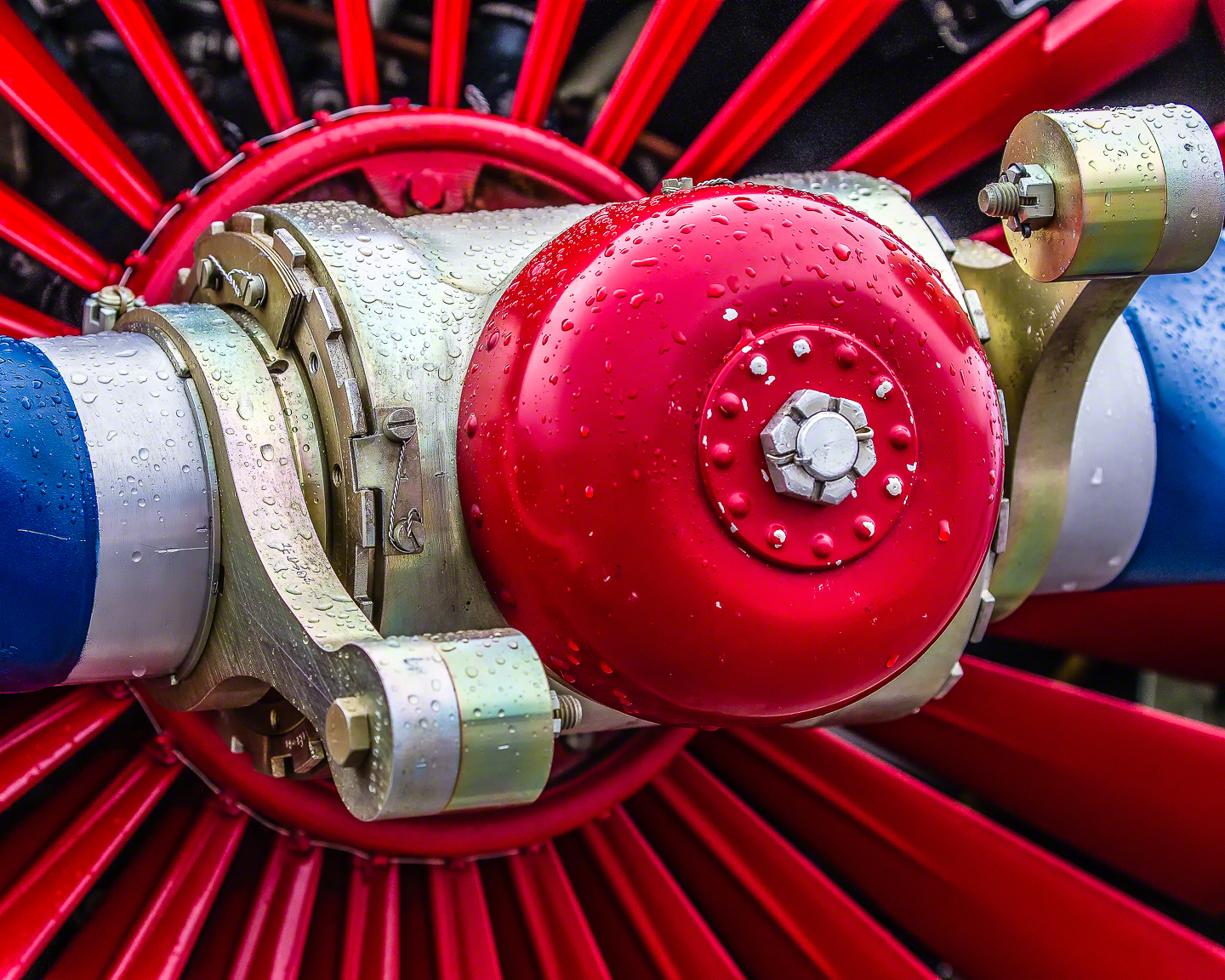 Close-Up Aircraft Mechanical Parts