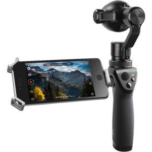 DJI Osmo+ with smartphone in cradle