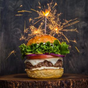 Burger With Sparklers