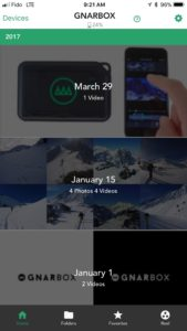 GNARBOX App Home Screen
