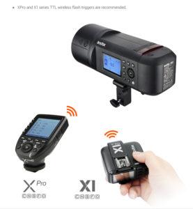 Godox AD600Pro Flash, Xpro Transmitter and X1 Transmitter