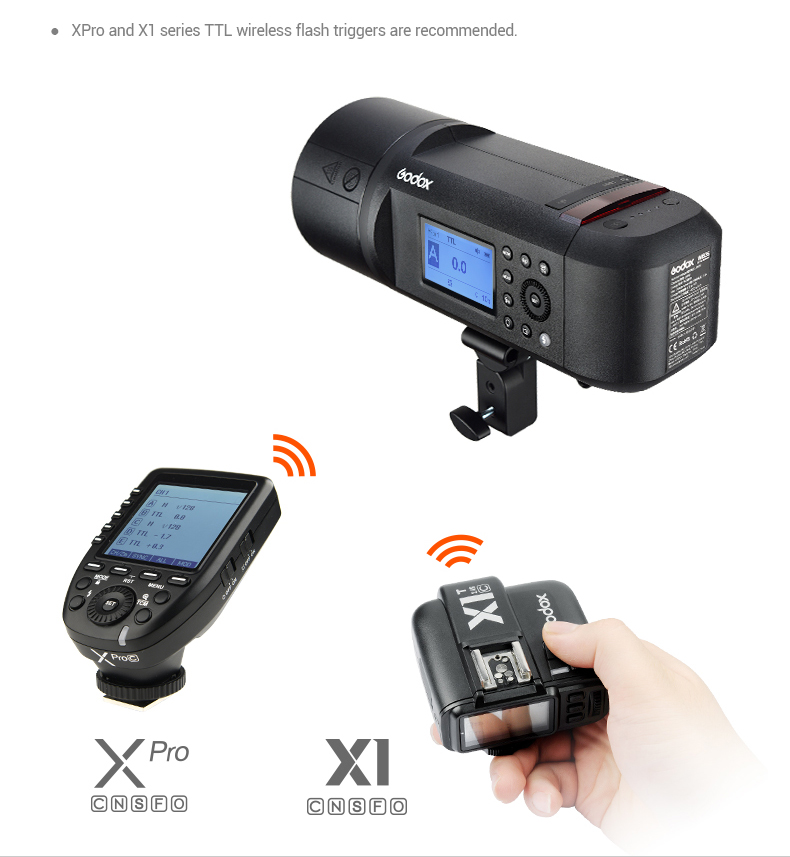 Godox AD600Pro Flash, Xpro Transmitter and X1 Transmitter