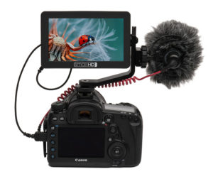 HDMI Field Monitor: SmallHD FOCUS on Mount with Microphone