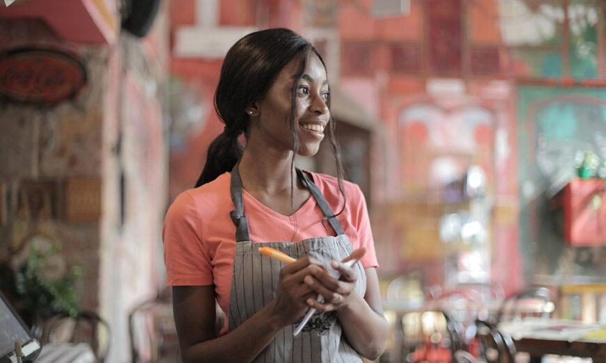 Waitress at Cafe