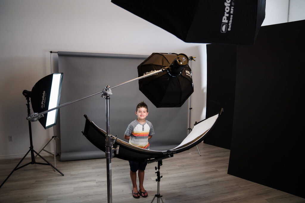 Behind the Scenes - Portrait Shoot with Young Boy
