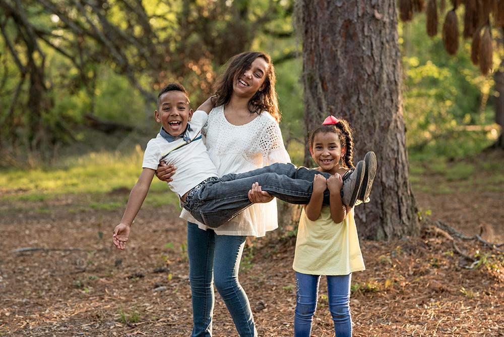 Kids sibling playing
