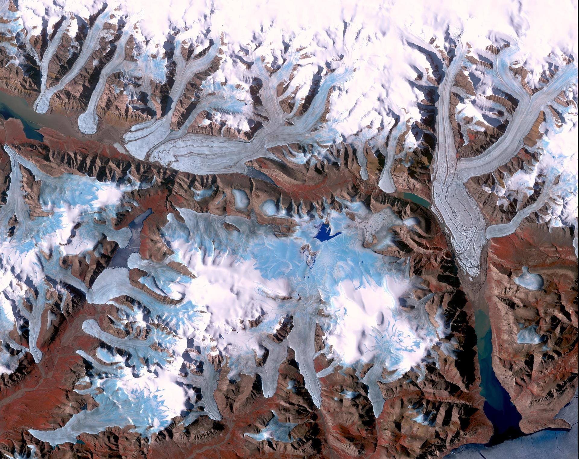 Ellesmere Island, Canada, taken by NASA Terra spacecraft