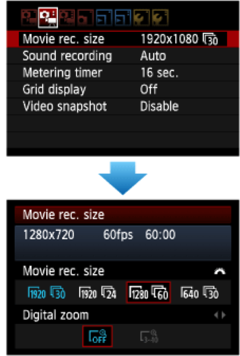 Video Basics: Video Menu Options (Canon Example)