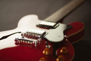 Photo of a Guitar shows depth of field