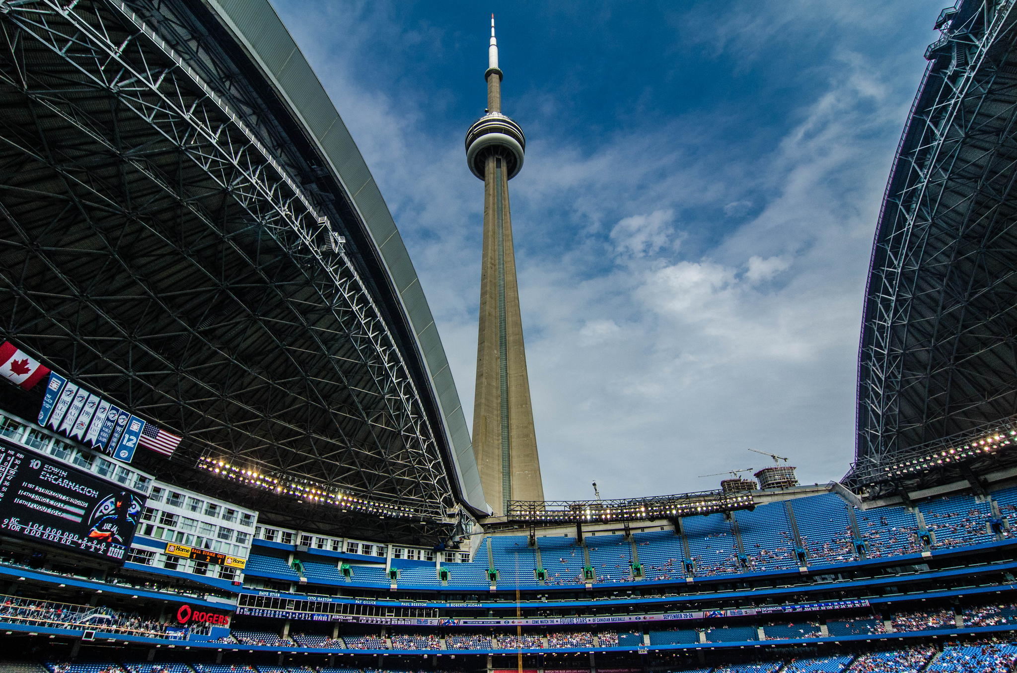 CN Tower and Rogers Centre by Chris Seifert