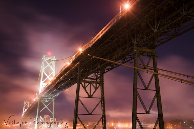 Halifax Bridge in Fog by Donna Corkum-Ivany
