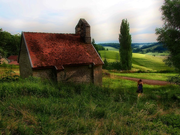 Chapel and Woman by Marty Gervais