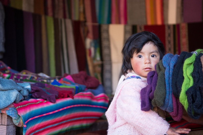 Keily from the Weaving Project in Peru
