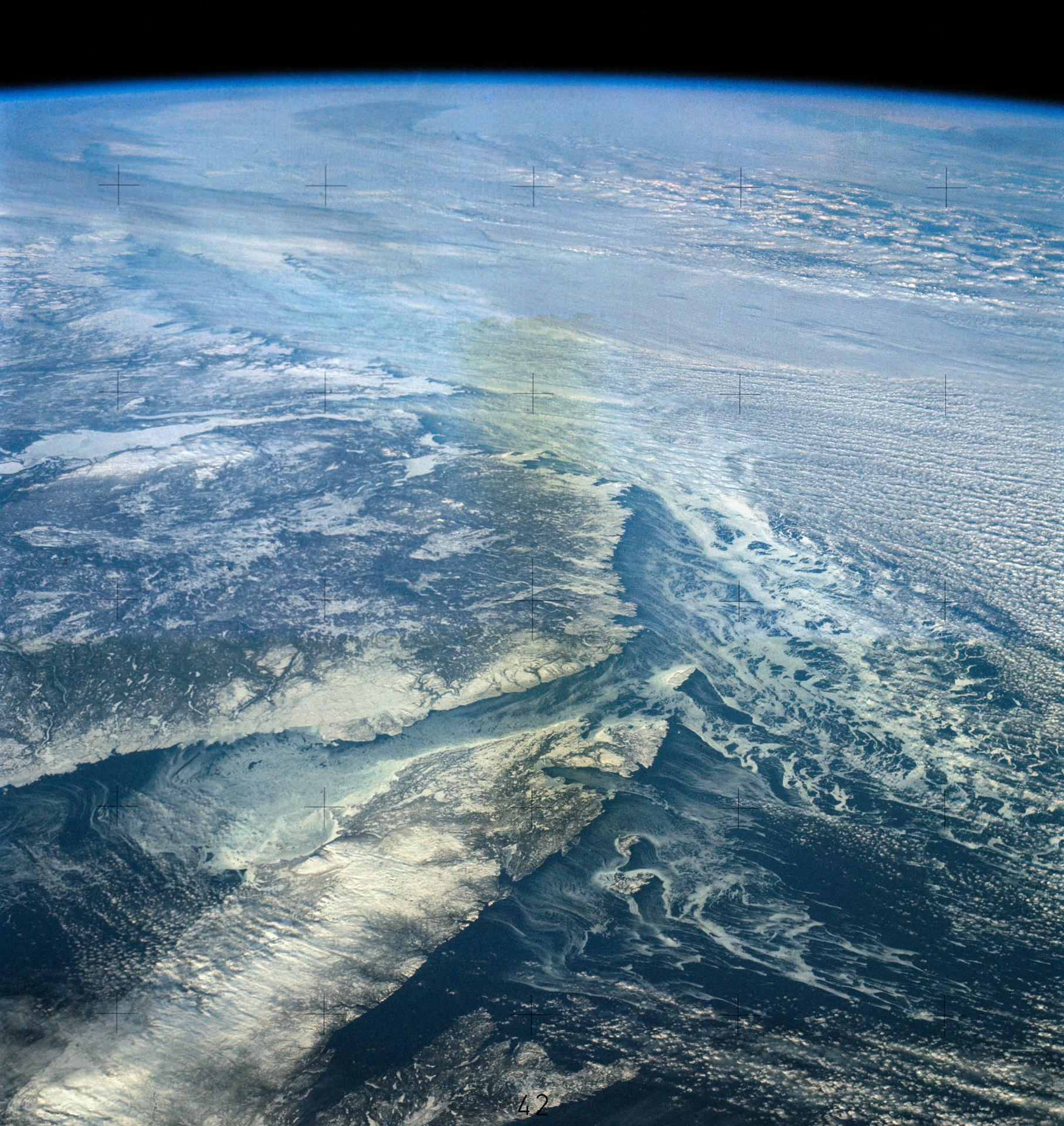 North Atlantic Coast of Canada from Skylab